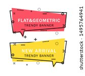 set of trendy flat geometric... | Shutterstock .eps vector #1495764941