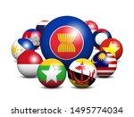asean . association of...   Shutterstock .eps vector #1495774034