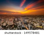 a view over the big asian city... | Shutterstock . vector #149578481