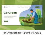 go green illustration design...