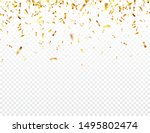 christmas golden confetti.... | Shutterstock .eps vector #1495802474