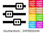 horizontal sliders. line icon...