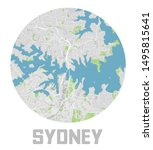 minimalistic sydney city map... | Shutterstock .eps vector #1495815641