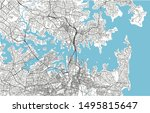 black and white vector city map ... | Shutterstock .eps vector #1495815647