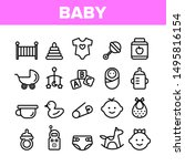 collection baby toys and... | Shutterstock .eps vector #1495816154