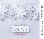 vector 2020 happy new year and... | Shutterstock .eps vector #1495818851