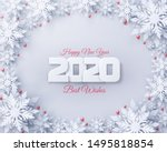 vector 2020 happy new year and... | Shutterstock .eps vector #1495818854