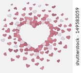 hand drawn heart background | Shutterstock .eps vector #149583059