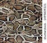 snake skin texture seamless... | Shutterstock .eps vector #1495839221
