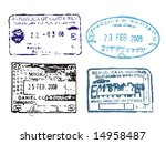 passport stamps from costa rica ... | Shutterstock . vector #14958487