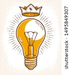 creative idea light bulb vector ... | Shutterstock .eps vector #1495849307
