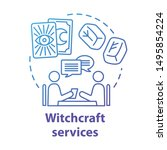 witchcraft services concept...   Shutterstock .eps vector #1495854224