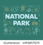 national park word concepts...