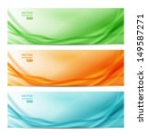 set of three abstract banners.... | Shutterstock .eps vector #149587271