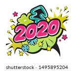 happy new year greeting festive ... | Shutterstock .eps vector #1495895204