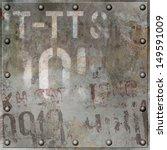 an old grunge metal plate... | Shutterstock . vector #149591009