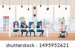job interview and recruiting... | Shutterstock . vector #1495952621