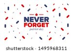 patriot day in united states.... | Shutterstock .eps vector #1495968311