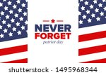 patriot day in united states.... | Shutterstock .eps vector #1495968344