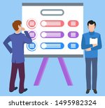 new idea on board  isolated... | Shutterstock .eps vector #1495982324