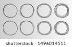 hand drawn circles sketch frame ... | Shutterstock .eps vector #1496014511
