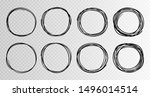 hand drawn circles sketch frame ... | Shutterstock .eps vector #1496014514