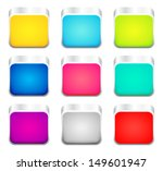 set of color apps icons   Shutterstock .eps vector #149601947