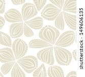 Vector seamless pattern. Hand drawn floral texture. Soft delicate flowers