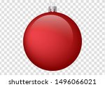 Red Christmas Ball On Isolated...