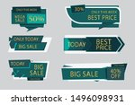 sale label collection vector... | Shutterstock .eps vector #1496098931