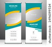 roll up banner vertical... | Shutterstock .eps vector #1496099534