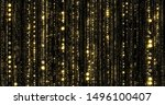 golden glitter threads curtain  ... | Shutterstock . vector #1496100407