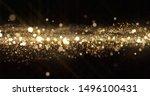 Gold Glitter Particles  Light...