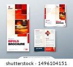 bi fold brochure design with... | Shutterstock .eps vector #1496104151