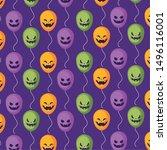 pattern balloons helium of... | Shutterstock .eps vector #1496116001