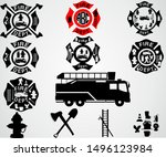 Gray Background Fire Department ...
