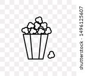 popcorn box icon isolated on...