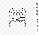 double burger icon isolated on...