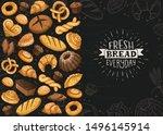 fresh bread everyday banner.... | Shutterstock .eps vector #1496145914