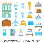bundle of hotel service icons...