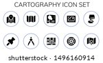 cartography icon set. 10 filled ... | Shutterstock .eps vector #1496160914