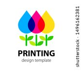 polygraphy and press cmyk color ... | Shutterstock .eps vector #1496162381