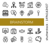 set of brainstorm icons such as ... | Shutterstock .eps vector #1496163437