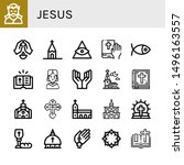 set of jesus icons such as...   Shutterstock .eps vector #1496163557