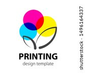 polygraphy and print cmyk.... | Shutterstock .eps vector #1496164337