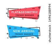 set of trendy flat geometric... | Shutterstock .eps vector #1496188994