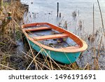 Rowing Boat In The Ice On A...