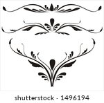 abstract calligraphy | Shutterstock .eps vector #1496194