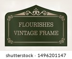 decorative frame with beautiful ... | Shutterstock .eps vector #1496201147