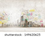 background image with buildings ... | Shutterstock . vector #149620625